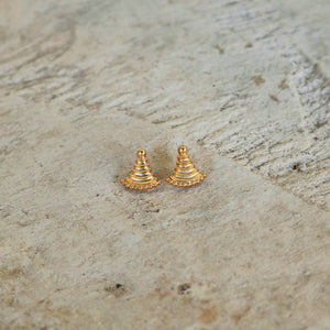Ancient Greek Stud Earrings / Gold-plated Stud Earrings / Ancient Greek Post Earrings / Trending Dainty Earrings Symbols Collection
