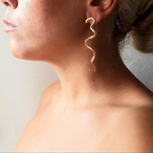 Load image into Gallery viewer, Wavy Statement Snake Earrings