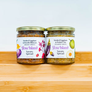 Savory Smoked Eggplant Spread Duo- [ 2 - 9oz Jars ]