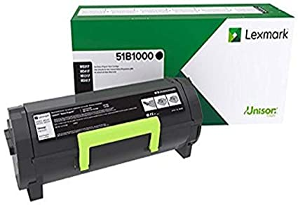 Lexmark Genuine OEM 51B1000 Black Toner Cartridge, Estimated Yield 2300