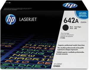 HP Genuine OEM CB400A Black Toner Cartridge, Estimated Yield 7500