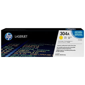 HP Genuine OEM CC532A Yellow Toner Cartridge, Estimated Yield 2800