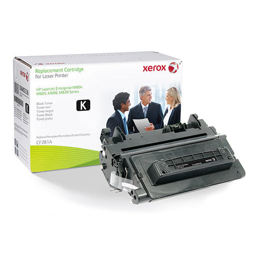 HP Remanufactured CF281A Black Toner Cartridge - Made by Xerox, Estimated Yield 10,500