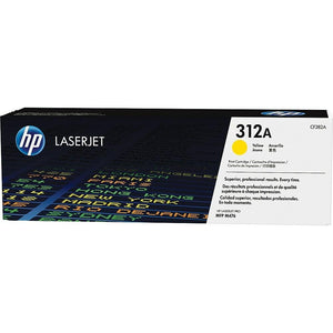 HP Genuine OEM CF382A Yellow Toner Cartridge, Estimated Yield 2700