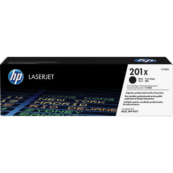 HP Genuine OEM CF400X Black High Yield Toner Cartridge, Estimated Yield 2800
