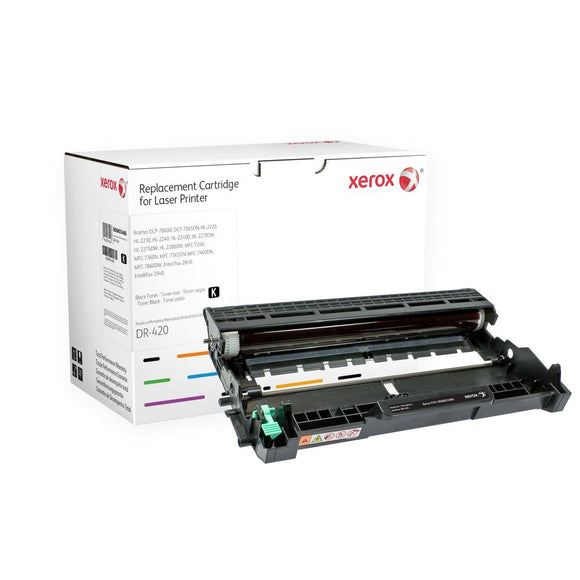 Brother Remanufactured DR420 Black Drum Unit - Made by Xerox, Estimated Yield 12,000