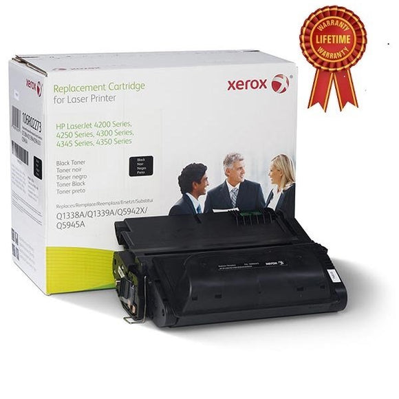 HP Remanufactured Q5945A 45A Black Toner Cartridge - Made by Xerox, Estimated Yield 18,000