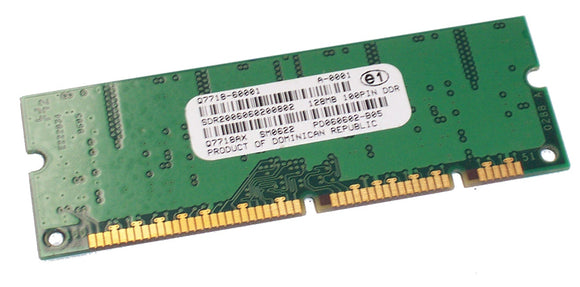 HP Refurbished Q7718A 128MB, 100-pin, DDR DIMM - Used to add flash memory-based accessory fonts, macros, and patterns