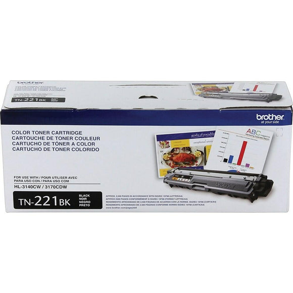 Lexmark Genuine OEM TN221BK Black Toner Cartridge, Estimated Yield 2500