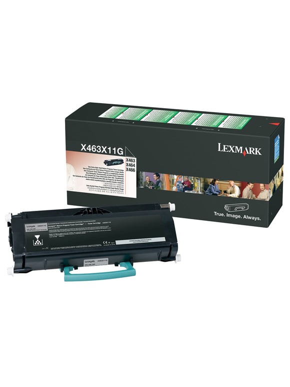 Lexmark Genuine OEM X463X11G Black Toner Cartridge, Estimated Yield 15,000
