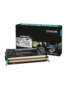 Lexmark Genuine OEM X746H1KG High Yield Black Toner Cartridge, Estimated Yield 12,000
