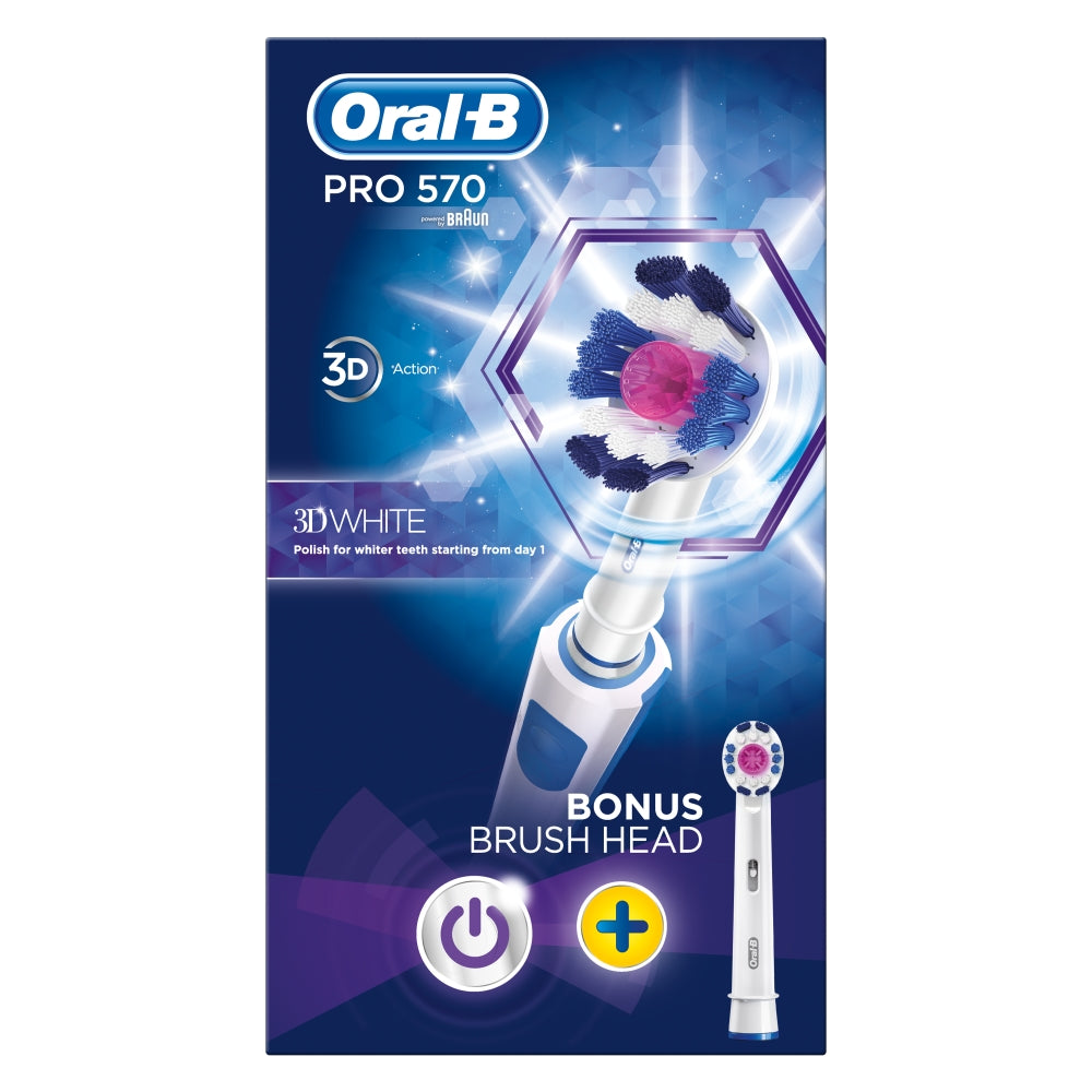 Oral B Pro 570 electric toothbrush 3D white