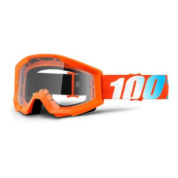 GAFAS DE MOTOCROSS 100% STRATA(Orange/Clear)
