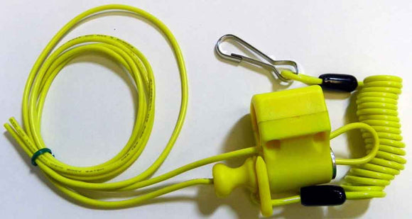 SUICHE APAGADOR LANYARD KILL SWITCH VERDE FLUO