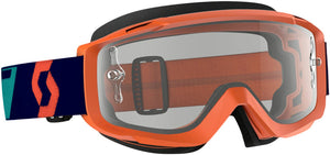 GAFAS DE MOTOCROSS SCOTT SPLIT OTG NARANJA/AZUL (SCOTT SPLIT OTG GOGGLE ORANGE/BLUE W/CLEAR WORKS LENS)