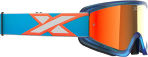 GAFAS DE MOTOCROSS EKS GOX FLAT OUT NARANJA/AZUL BLANCO (EKS BRAND FLATOUT CYAN/FLO ORANGE/WHITE RED MIRROR)