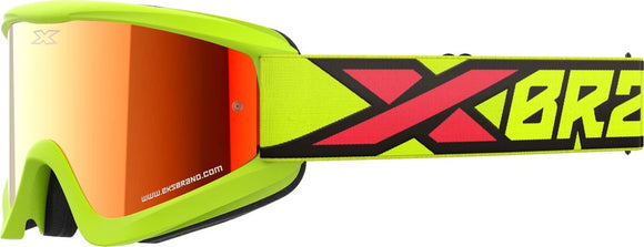 GAFAS DE MOTOCROSS EKS GOX FLAT OUT AMARILLO FLO/NEGRO/ROJO (EKS BRAND FLATOUT FLO YELLOW/BLACK/FIRE RED MIRROR)