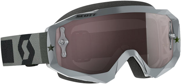 GAFAS MOTOCROSS SCOTT HUSTLE GRIS/PLATEADO (SCOTT HUSTLE GOGGLE GREY W/SILVER CHROME WORKS)