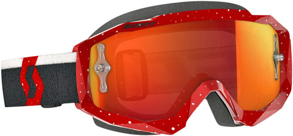 GAFAS MOTOCROSS SCOTT HUSTLE ROJO/BLANCO/NARANJA (SCOTT HUSTLE GOGGLE RED/WHITE W/ORANGE) CHROME WORKS