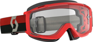 GAFAS DE MOTOCROSS SCOTT SPLIT OTG ROJO/GRIS (SCOTT SPLIT OTG GOGGLE RED/GREY CLEAR WORKS)
