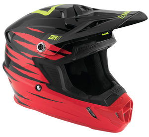 Casco Answer AR1 ProGlo Motocross(Rojo/Negro/Verde)