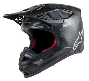 CASCO ALPINESTARS S.TECH S-M10 SOLID HELMET CARBON BLACK