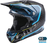CASCO FLY RACING FORMULA CARBON AXON HELMET BLACK/BLUE/HI-VIS