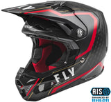 CASCO FLY RACING FORMULA CARBON AXON HELMET BLACK/RED/KHAKI