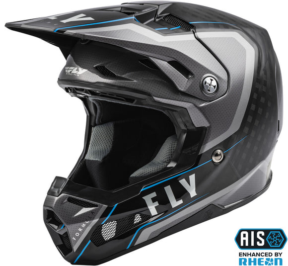 CASCO FLY RACING FORMULA CARBON AXON HELMET BLACK/GREY/BLUE