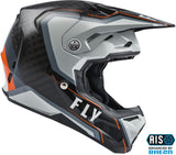 CASCO FLY RACING FORMULA CARBON AXON HELMET BLACK/GREY/ORANGE