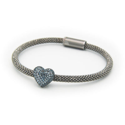 London Blue Heart Bracelet - SCANDALICIOUS GIRL
