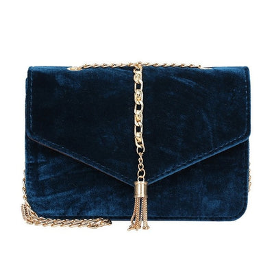Luxury Messenger Bag with Gold Chain Handle - SCANDALICIOUS GIRL