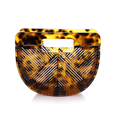 Leopard Ark Bamboo Clutch Bag - SCANDALICIOUS GIRL