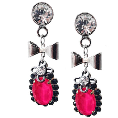 Hot pink Dangle Drop earrings Made With Crystallized Swarovski - SCANDALICIOUS GIRL