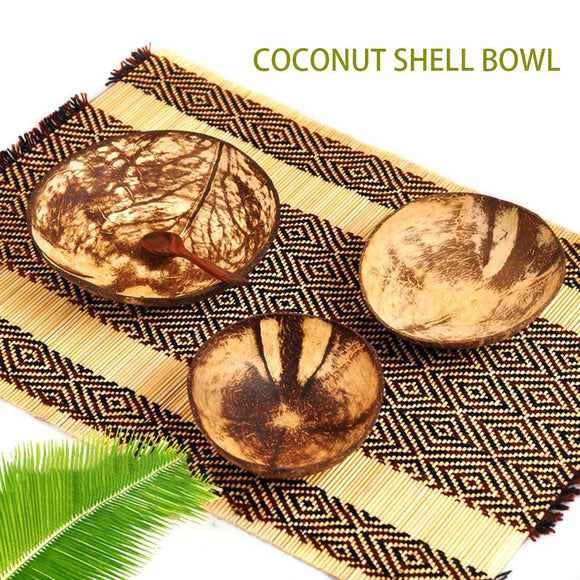 Premium Organic Coconut Bowl in Three Sizes, Suitable for everyday use!