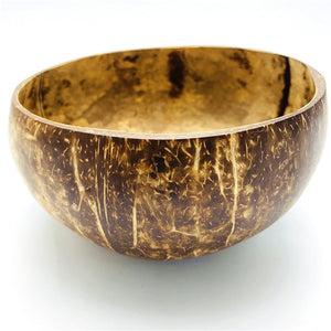 All Natural Organic Coconut Bowl Sealed With Organic Virgin Coconut Oil