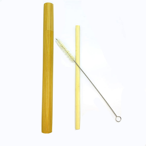 Organic Bamboo Straw with Travel Case and Cleaning Brush