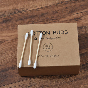 100% Natural Wooden Cotton Tips
