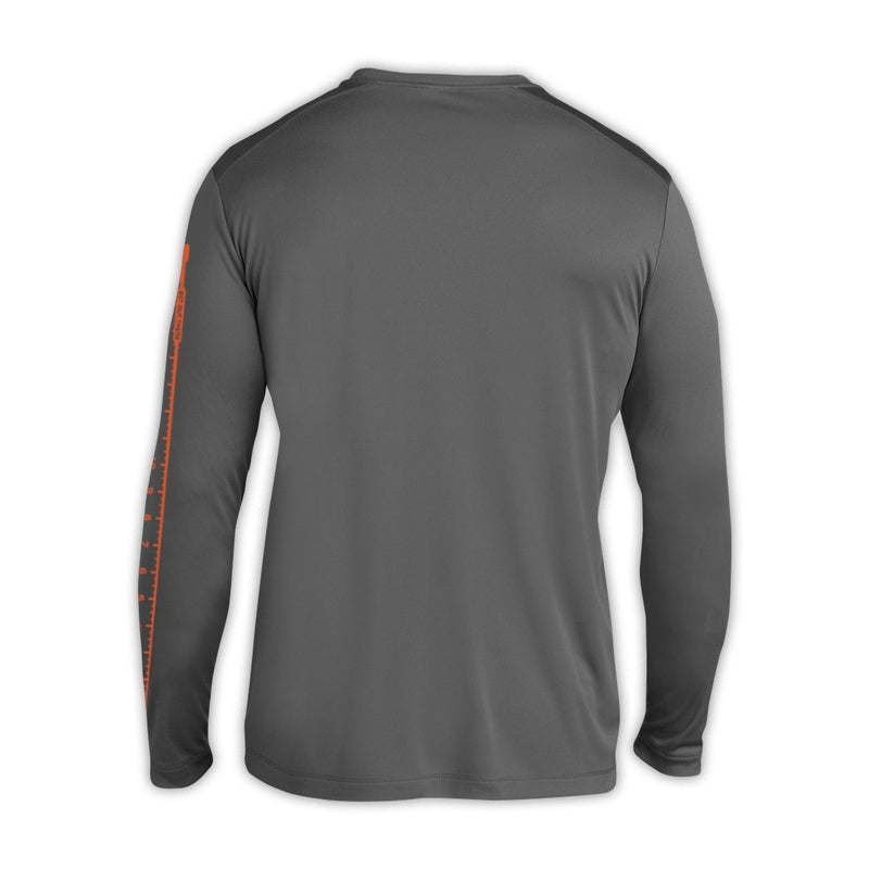 Wade Deep Unisex 2019 Grey Catch And Release Sunshirt - Back