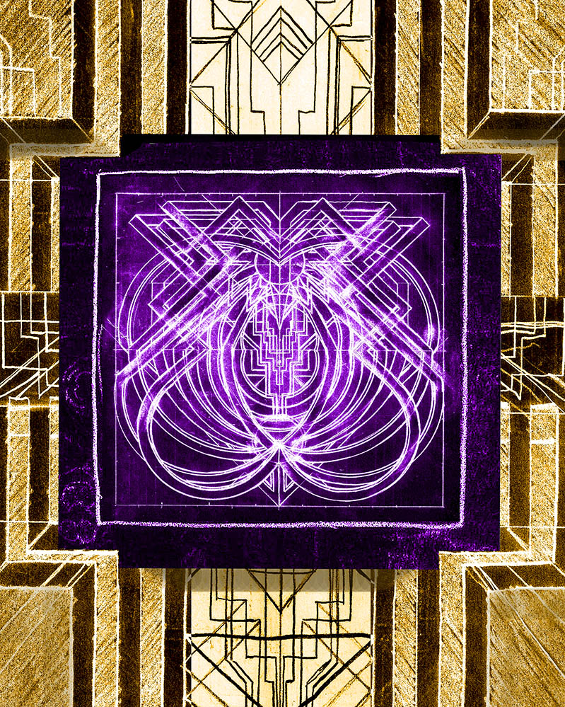 Deco Electro Glyph #8 from the Temple of Metroploton
