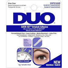 DUO QUICK-SET Striplash Adhesive White/Clear