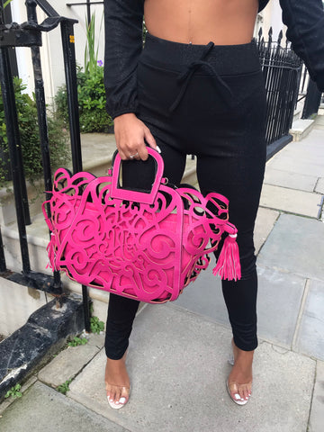 Candy Cut Out Bag In Pink
