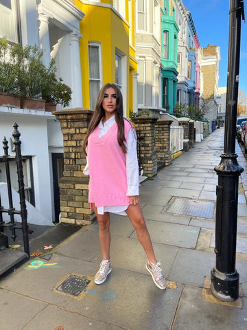 Polly Shirt Dress In Pink