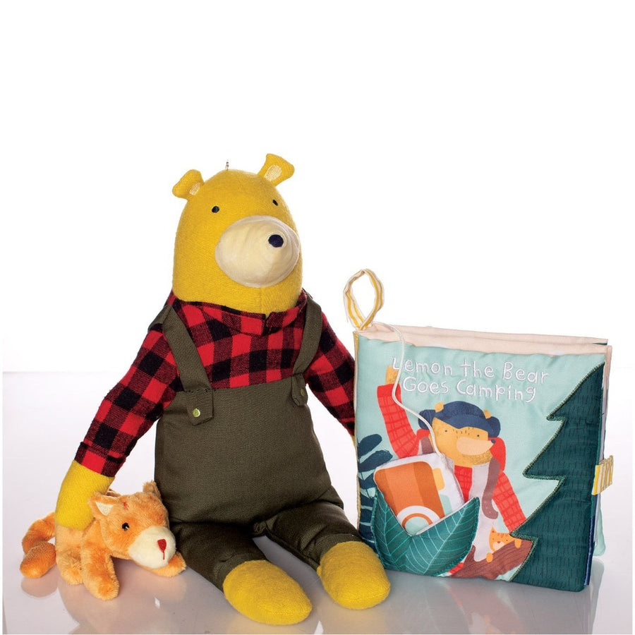 Lemon the Bear Goes Camping Book-Manhattan Toy Company-Shop at Nook