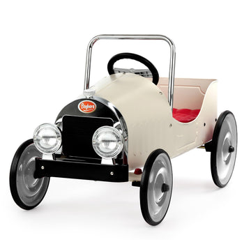 Pedal Car - Classic White-Baghera-Shop at Nook