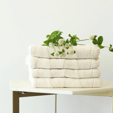 KITE Organic Knit Baby Blanket - Cream-koko's nest-Shop at Nook
