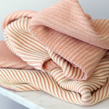 LINE Organic Knit Baby Blanket - Rose-koko's nest-Shop at Nook
