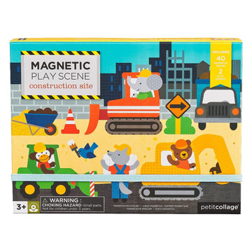 Construction Site Magnetic Play Scene-Petit Collage-Shop at Nook
