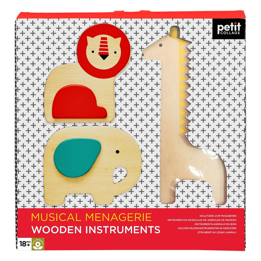 Musical Menagerie Wooden Instruments-Petit Collage-Shop at Nook