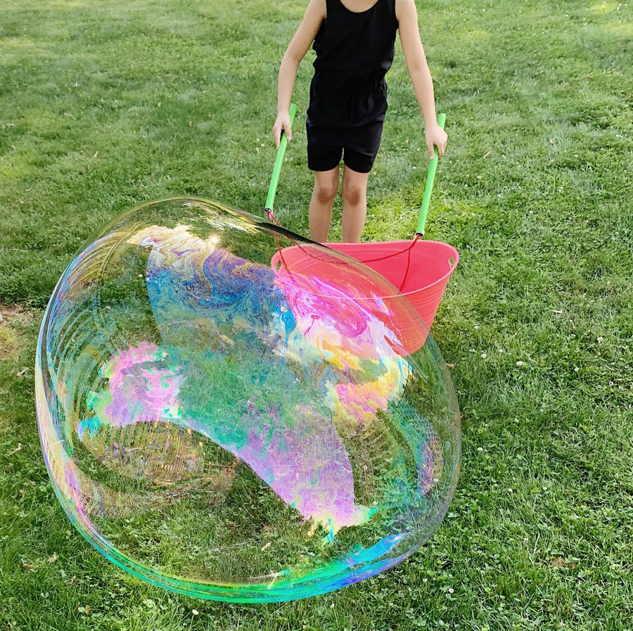 Giant Bubble Kit: Big Bubble Wands & Concentrate